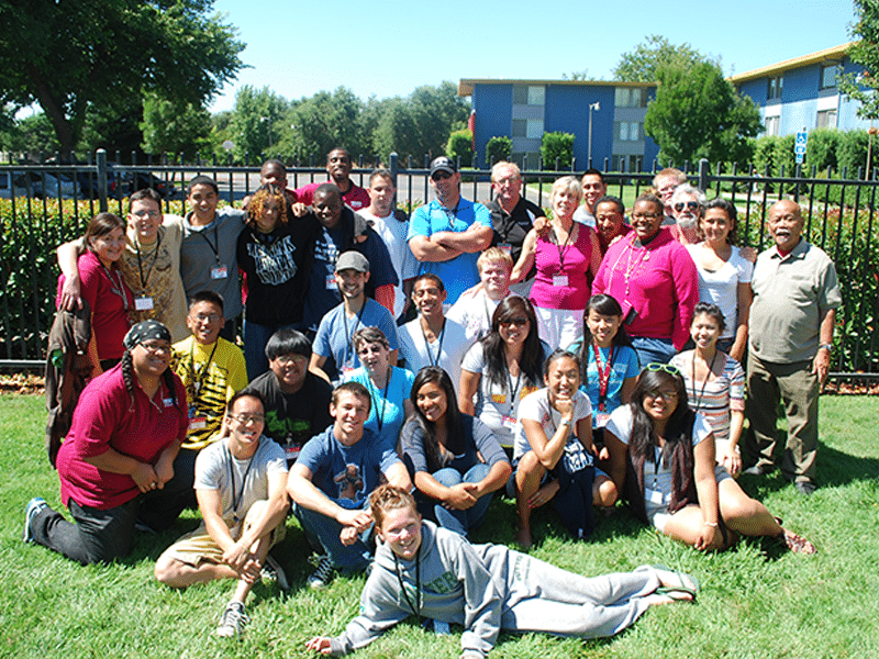 Group of AES students.