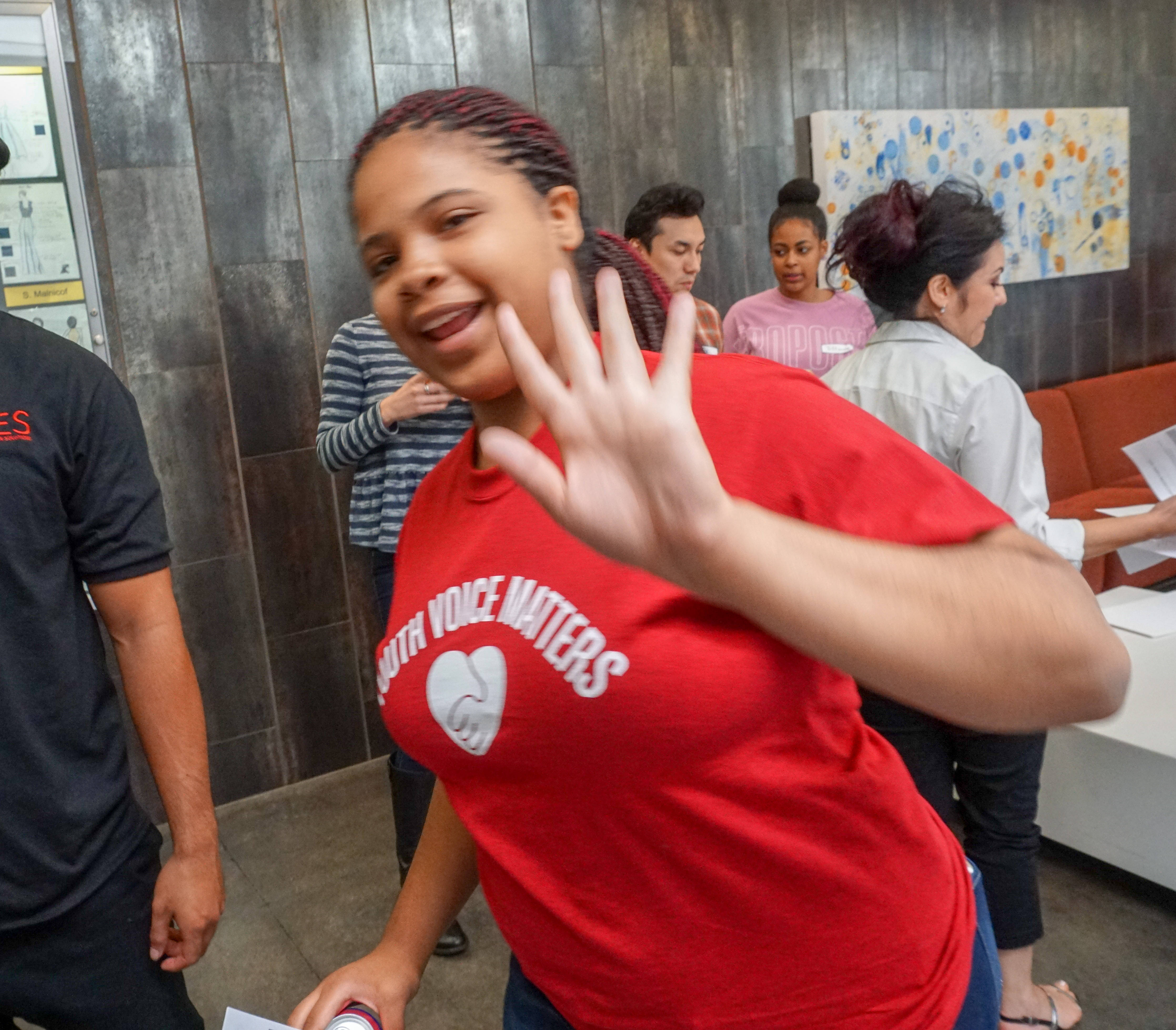 DLA participant waving/